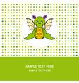 Dragon card vector