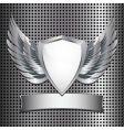 Metallic shield background vector