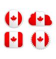 Canada flag labels vector