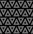 Seamless geometric black and white stripes vector