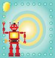 Robot birthday party invitation vector