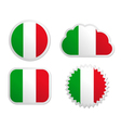 Italy flag labels vector