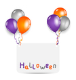 Halloween card with set colorful balloons vector