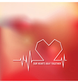 Heart beat - love design for valentines day logo vector