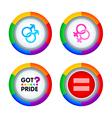 Gay pride badges vector