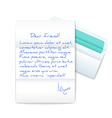 Letter with opened envelope vector