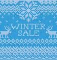 Winter sale scandinavian style seamless knitted vector