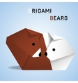 Bears origami vector