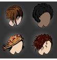 Stylish hairstyles vector