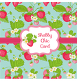 Strawberry shabby chic theme vector