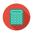 Single flat calculator icon with long shadow vector