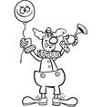 Clown cartoon for coloring vector