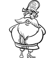 Pirate captain cartoon coloring page vector