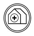 Hospital building symbol vector