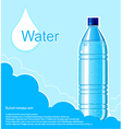 Bottle of clean water background vector