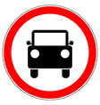 Do not drive car road sign vector