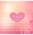 Valentine triangle background vector