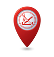 No smoking red pointer vector