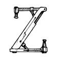 Letter z vector