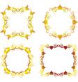 Gold floral frame 1 vector