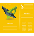 Brochure design with orthogonal rhomb symbols vector