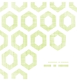 Abstract green fabric textured honeycomb cutout vector