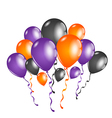Set colorful balloons for halloween party vector