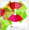 Abstract geometric shapes background vector