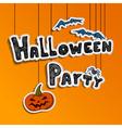 Halloween party design vector