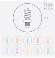 Fluorescent lamp bulb sign icon energy saving vector