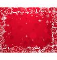 Luxury grunge winter floral frame - vector