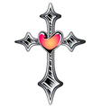 Cross symbol tattoo vector