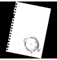 Stained notepad paper vector