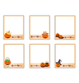 Set of photos with halloween evil and item vector