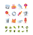 Sweet food and confectionery icons vector