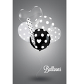 Black and white composition with white balls vector