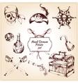 Pirates decorative icons set vector