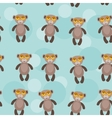 Seamless pattern with funny cute monkey animal on vector