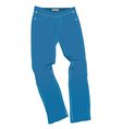 Jeans blue vector