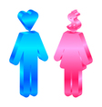 Interests - icon of man and woman vector