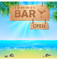 Summer seaside view poster vector