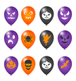 Colorful balloons for halloween party vector