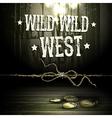 Wild west party design vector