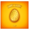 Happy easter jewelry egg vector