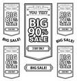 Big sale best offer badge line sticker label vector
