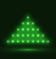 Abstract glowing christmas tree on black vector
