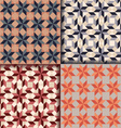 Retro geometric patterns background vector