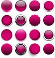 Round magenta icons vector