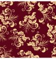 Grunge floral seamless background vector