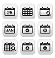 Calendar date buttons set vector